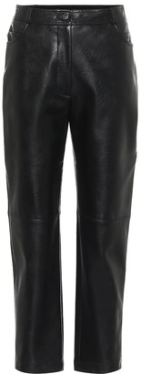 Stella McCartney Hailey high-rise faux leather pants