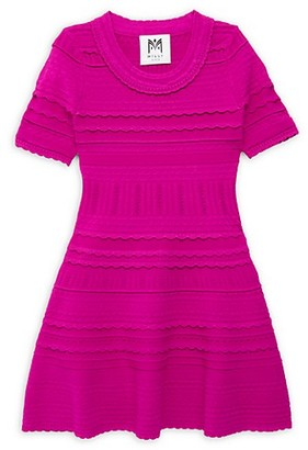 Milly Little Girl's Girl's Knit Short-Sleeve Flare Dress