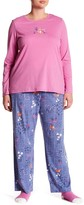 Hue Namastay in Bed Fox Print 3-Piece Pajama Set (Plus Size)