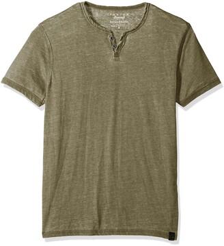 Lucky Brand Men's Burnout Button Notch Neck Shirt