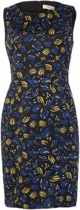 Kasper Women's Plus Size Sleeveless Jewel Neck Floral Print Sheath Dress