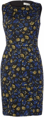 Kasper Women's Sleeveless Jewel Neck Floral Print Sheath Dress