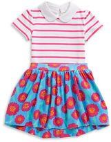 Kate Spade New York Two-Piece Jess Striped Bodysuit and Floral-Print Skirt Set