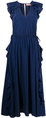 Twin-Set ruffle-trim maxi dress
