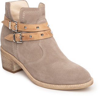 Nero Giardini Buckle Ankle-Strap Suede Booties