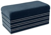 John Robshaw Velvet Nail Button Storage Bench