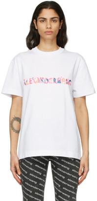 Alexander Wang White Logo Calligraphy T-Shirt