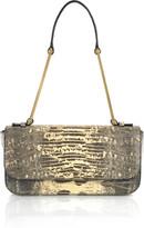 Jil Sander Lizard-skin shoulder bag