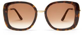Cartier Trinity Oversized Square Acetate Sunglasses - Tortoiseshell