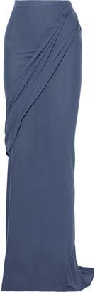 Rick Owens Lilies Draped Jersey Maxi Skirt