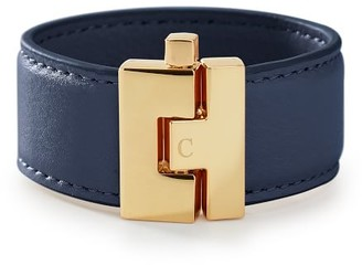 Mark And Graham Gold Clasp Leather Bracelet