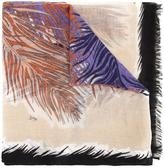 Emilio Pucci feather print scarf - women - Cashmere - One Size