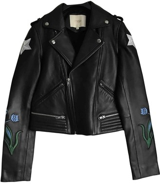 Maje Fall Winter 2019 Black Leather Leather jackets