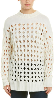 Oscar de la Renta Wool & Cashmere-Blend Sweater