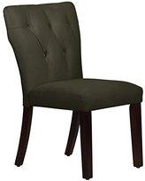 """Skyline Furniture 20"""" Tufted Dining Chair in Velvet Pewter"""