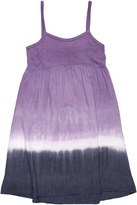 Splendid Littles Saturn Dip Dye Dress (Big Kids) (Ultraviolet) - Apparel