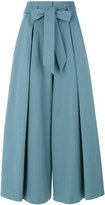 Temperley London Blueberry tailoring ruffle culottes