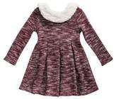 Sweet Heart Rose Sweetheart Rose Baby Girl's Sherpa-Trimmed Dress