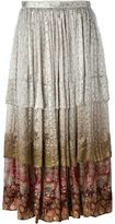 Etro floral print flounce skirt - women - Silk - 46