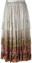 Etro floral print flounce skirt