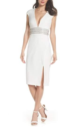 Xscape Evenings Beaded Waist Open Back Dress