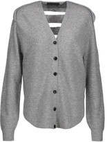 Alexander Wang Mesh-paneled wool and cashmere-blend cardigan