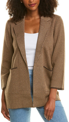 J.Crew Sophie Chevron Wool-Blend Sweater