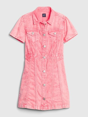 Gap Kids Pink Denim Dress