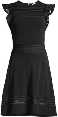 MICHAEL Michael Kors Mesh-Trimmed Dress