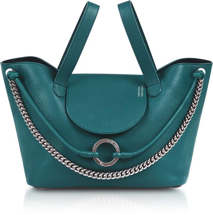 Meli-Melo Regal Blue Linked Thela Medium Tote Bag