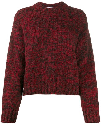 RED Valentino Graphic-Print Knitted Jumper