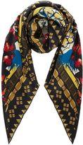 Biba Leopard silk boxed scarf