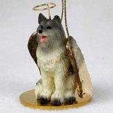 Keeshond Angel Dog Ornament
