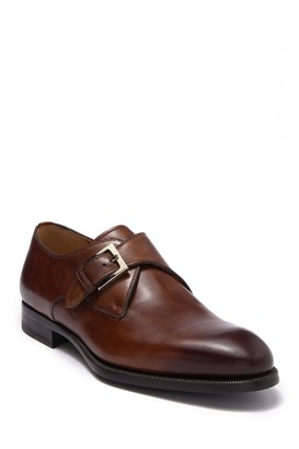 Magnanni Brodie Leather Monk Strap Loafer