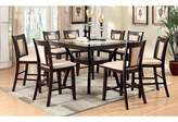 Darby Home Co Wilburton 9 Piece Counter Height Pub Table Set Darby Home Co Color: Black