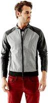 GUESS Rhian Faux-Leather Mix Jacket