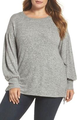 Gibson Blouson Sleeve Fleece Sweater