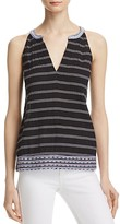 Soft Joie Heather Embroidered Striped Top