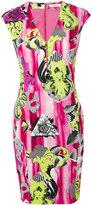 Versace v-neck printed dress - women - viscose/Spandex/Elastane/Polyester/Viscose - 44