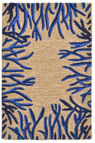 Liora Manné Spello Coral Border Indoor/Outdoor Hand-Tufted Rug