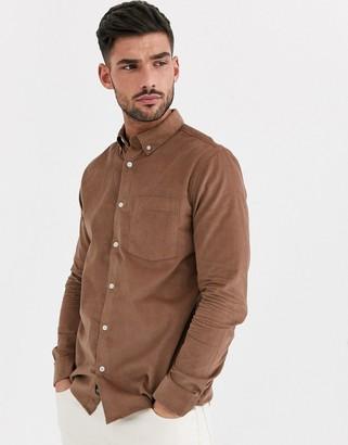 Burton Menswear cord shirt in ginger