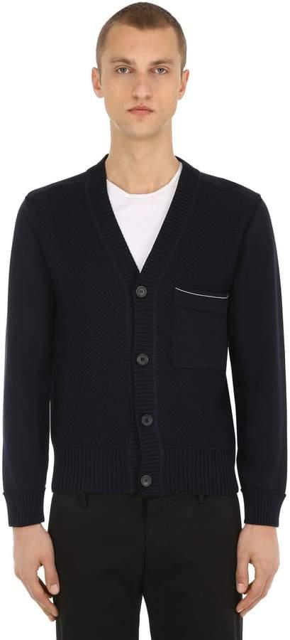 Falke Luxury Two-tone Cotton Knit Cardigan