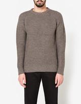 Beams B+Highland Wool Crew in Charcoal Grey