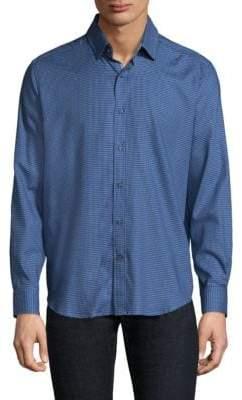 Robert Graham Colin Cotton Casual Button-Down Shirt