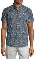 Theory Coppolo Printed Short-Sleeve Shirt, Theorist Multi