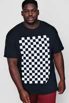 Big And Tall Checkerboard Print T-Shirt