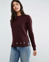Brave Soul Sweater With Eyelets