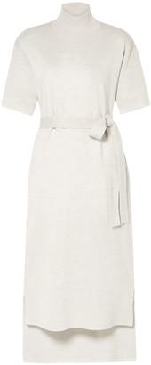Co Belted Stretch-wool Turtleneck Midi Dress