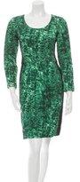 Oscar de la Renta Quilted Dip-Dye Dress w/ Tags