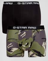 G Star Trunks In 2 Pack Camo